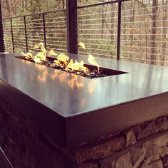 Concrete countertop on a firepit. | Flickr - Photo Sharing!
