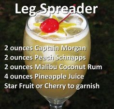 Captain Morgan, Peach Schnapps, & Coconut Rum. (drink sounds good , change the name )