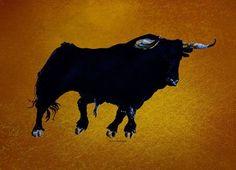 'Toro Ockre 2' von April Turner bei artflakes.com als Poster oder Kunstdruck $27.72