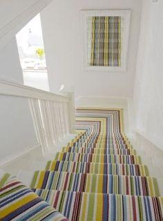 multicoloured-stripe-staircase-runner-design-idea