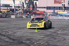 Ford car testing maneuverability on SEMA 2012 track