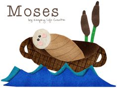 Printable pieces for Moses | by Keeping Life Creative