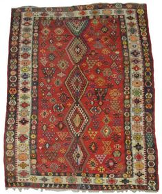 LARGE HAND WOVEN TURKISH KILIM RUG, 10', 6'