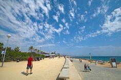 Playa Bogatell, Barcelona, Spain