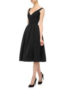 Black Pleated Flo Dress | Preen by Thornton Bregazzi | Avenue32