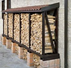 You want to build a outdoor firewood rack? Here is a some firewood storage and creative firewood rack ideas for outdoors. Outdoor Firewood Rack, Firewood Shed, Firewood Storage, Outdoor Stove, Garden Pool, Backyard Patio, Backyard Landscaping, Backyard Plants, Pool Plants