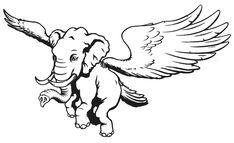 Flying Elephant, Moose Art, Animals, Animaux, Animales, Animal, Dieren