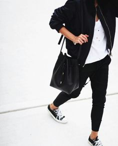 The holey T paired with the converse stops with graphic look appearing too polished   modeandmaison.wordpress.com