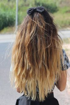 Ombre straight brown hair.
