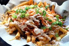 loaded french fries with onions