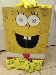 walk in the sunshine: Spongebob birthday party.  Spongebob Squarepants Bean Bag Toss Game
