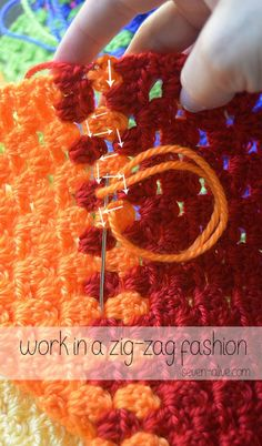 How to Weave in Ends ~ Crochet 101 - Seven Alive