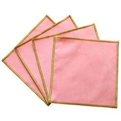 Entry Colorblock Cocktail Napkins - Guava Pink