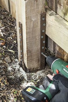 Overlap Joint To Extend Height Of Existing Fence Posts To