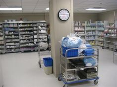 Hospital supply room.