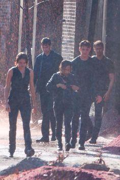 allegiant - tris, cristina, four, peter and caleb