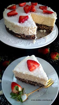 Kokosowy puch (z polecenia PM :)) Puch Recipe, Sweet Recipes, Cake Recipes, Polish Recipes, Food Cakes, Cheesecake, Food And Drink, Health Fitness, Cooking Recipes