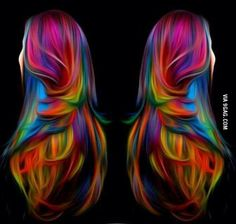 This hair looks cool.
