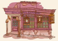 Diagon Alley: Eeylops Owl Emporium by RaRo81