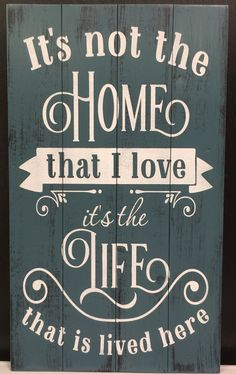 It's Not the Home That I Love – Signs of Vinyl