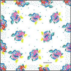 Silk Handkerchief, Pink Yellow, Blue, Sewing Basics, Floral Design, Lady, Bandana, Cotton, Flowers