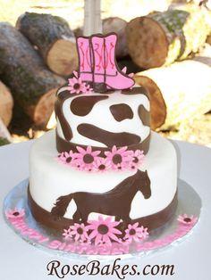 Adventures in Savings: Adventures in Baking :: Cowgirl / Horse Birthday Cake