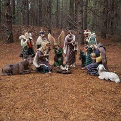"25""H Christmas Nativity Scene Figures, 11 Piece Set"