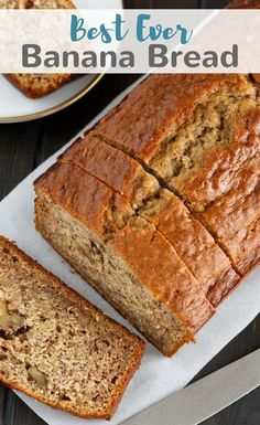 This Best EVER Banana Bread recipe is the only one you will ever need! It's easy, flavorful, and will quickly become your new favorite. #bread #banana #baking #dessert #breakfast via @introvertbaker