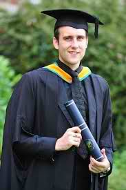 Master of Arts degree from Leeds Metropolitan University on Tuesday afternoon, and the first images of the former Harry Potter actor Matthew Lewis in his cap, gown,