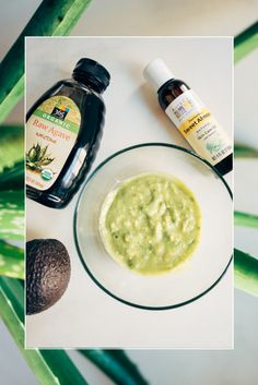 Agave + Aloe Face Mask -  Your next cure-all face mask! Agave Nectar: An ancient, natural cure for many skin conditions. Has been shown to aid in healing wounds and has anti-aging properties.  Aloe: A magical ingredient internally and externally. It's effective in treating dry skin, hair and scalp problems, healing wounds and skin ailments, and is especially soothing to skin.  Avocado: Mother Nature's moisturizer.  Sweet Almond Oil: Cleanses, smooths, removes dark circles and discoloration…