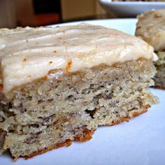 Banana Bread Bars with Brown Butter Frosting Yummy