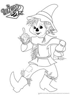 Wizard Of Oz Coloring Pages For Kids Perfect - Coloring Pages