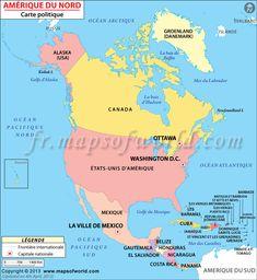 Amérique du Nord Carte politique