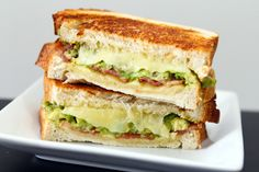 Avocado & Bacon Grilled Cheese from www.tablefortwoblog.com