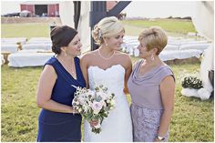 Three generations, a very proud Grandma and Mom.  vintage, barn wedding, country
