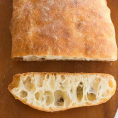 Ciabatta Bread Recipe-must start at least 8 hours-up to 24 hours before baking because it uses sponge. I see ciabatta bread in my future. Bread Bun, Bread Rolls, Rye Bread, Homemade Ciabatta Bread, Homemade Breads, Bread Machine Recipes, Ciabatta Bread Machine Recipe, Water Bread Recipe, Good Food