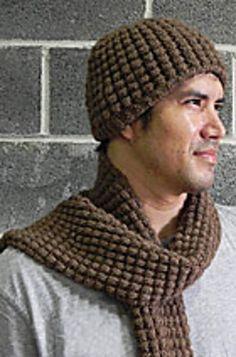 Drop Stitch Hat And Scarf By Kathy Zimmerman - Free Knitted Pattern - See http://www.kraemeryarns.com/patterns/pdfs/121.pdf For PDF Pattern - (ravelry)