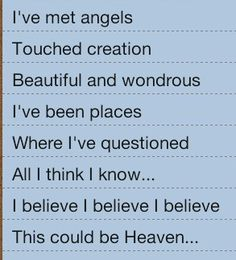 """Tracy Chapman """"Heavens Here on Earth"""" Story Lyrics, Angels Touch, Tracy Chapman, Here On Earth, Heavens, Believe, Songs, Song Books, Paradise"""