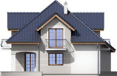 Elewacja ARD Kasztan 2 paliwo stałe CE Roof Design, Design Case, Home Fashion, Dom, My House, Floor Plans, Cabin, Flooring, Mansions