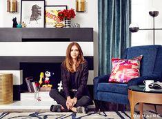 Chiara Ferragni in Her Living Room in Los Angeles