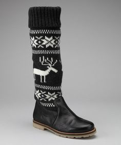 Take a look at this Black Reindeer Boot by Eric Michael by Laurevan on #zulily today!