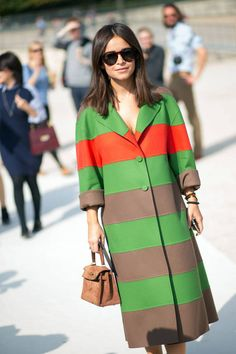 Street style from Paris Fashion Week, featuring Miroslava Duma and more. See all the looks, here: