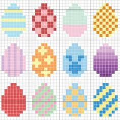 Free Easter Pattern - Stitch People - Get ready for Easter with this cute free . - Free Easter Pattern – Stitch People – Get ready for Easter with this cute free pattern from St - Tiny Cross Stitch, Cross Stitch Designs, Cross Stitch Patterns, Easter Cross, Easter Art, Easter Eggs, Hama Beads Patterns, Beading Patterns, Embroidery Patterns