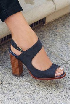 Дамски сандали,тъмносини - Next | Stilago