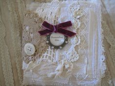 Vintage Inspired Fabric and Lace Book by peregrine blue, via Flickr