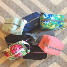 These customized toiletry kits are the perfect gifts! They are great for any age and any gender and holds everything needed when traveling. The embroidery is optional yet a great touch; let's face it, there's nothing better than a personalized item!