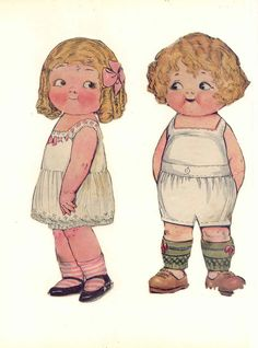 Dolly Dingle 5 * 1500 paper dolls at International Paper Doll Society by artist Arielle Gabriel ArtrA QuanYin5 Linked In QuanYin5 Twitter *