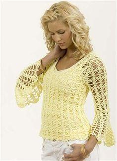 Bell Sleeve Pullover, As Seen on Knitting Daily TV Episode 208 - Media - Crochet Me