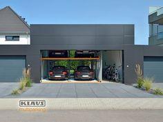 Car Stacker, Garage Storage, Park, Man Cave, Beautiful Homes, Ikea, Garage Doors, Outdoor Decor, Motor