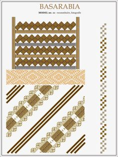 traditional Romanian pattern - north of Bessarabia Folk Embroidery, Embroidery Patterns, Cross Stitch Patterns, Moldova, Hama Beads, Romania, Beading Patterns, Pixel Art, Folk Art